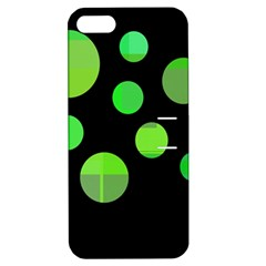 Green Circles Apple Iphone 5 Hardshell Case With Stand by Valentinaart
