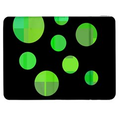 Green Circles Samsung Galaxy Tab 7  P1000 Flip Case by Valentinaart