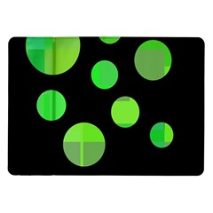 Green Circles Samsung Galaxy Tab 10 1  P7500 Flip Case by Valentinaart