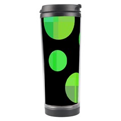 Green Circles Travel Tumbler by Valentinaart