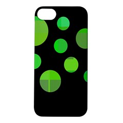 Green Circles Apple Iphone 5s/ Se Hardshell Case by Valentinaart