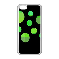 Green Circles Apple Iphone 5c Seamless Case (white) by Valentinaart