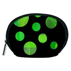 Green Circles Accessory Pouches (medium)  by Valentinaart
