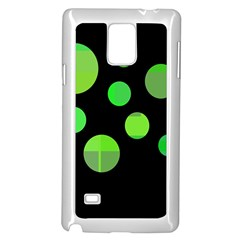 Green Circles Samsung Galaxy Note 4 Case (white) by Valentinaart