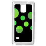Green circles Samsung Galaxy Note 4 Case (White) Front