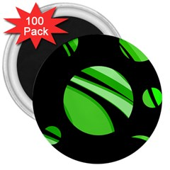 Green Balls   3  Magnets (100 Pack) by Valentinaart