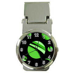 Green Balls   Money Clip Watches