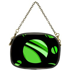 Green Balls   Chain Purses (one Side)  by Valentinaart