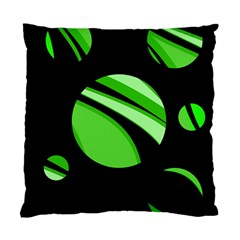 Green Balls   Standard Cushion Case (one Side) by Valentinaart