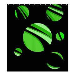Green Balls   Shower Curtain 66  X 72  (large)  by Valentinaart