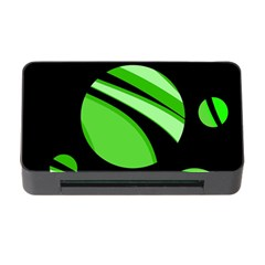 Green Balls   Memory Card Reader With Cf by Valentinaart