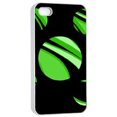 Green Balls   Apple Iphone 4/4s Seamless Case (white) by Valentinaart