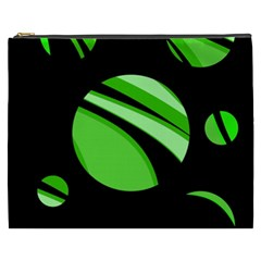 Green Balls   Cosmetic Bag (xxxl)  by Valentinaart
