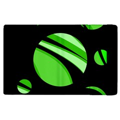 Green Balls   Apple Ipad 3/4 Flip Case by Valentinaart