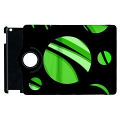 Green Balls   Apple Ipad 3/4 Flip 360 Case by Valentinaart