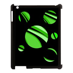 Green Balls   Apple Ipad 3/4 Case (black) by Valentinaart