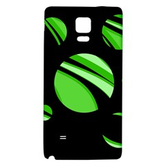 Green Balls   Galaxy Note 4 Back Case by Valentinaart