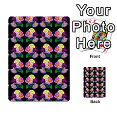 Rosa Yellow Roses Pattern On Black Multi Purpose Cards (rectangle)  by Costasonlineshop