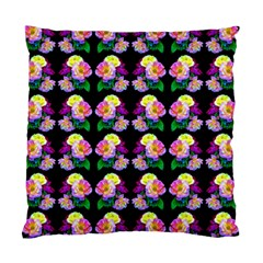 Rosa Yellow Roses Pattern On Black Standard Cushion Case (two Sides)