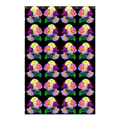 Rosa Yellow Roses Pattern On Black Shower Curtain 48  X 72  (small)  by Costasonlineshop