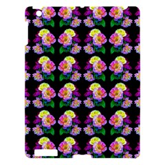 Rosa Yellow Roses Pattern On Black Apple Ipad 3/4 Hardshell Case by Costasonlineshop