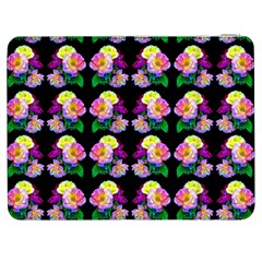 Rosa Yellow Roses Pattern On Black Samsung Galaxy Tab 7  P1000 Flip Case by Costasonlineshop