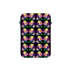 Rosa Yellow Roses Pattern On Black Apple Ipad Mini Protective Soft Cases by Costasonlineshop