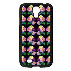 Rosa Yellow Roses Pattern On Black Samsung Galaxy S4 I9500/ I9505 Case (black) by Costasonlineshop