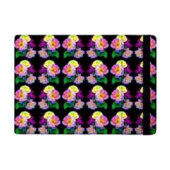 Rosa Yellow Roses Pattern On Black Ipad Mini 2 Flip Cases by Costasonlineshop