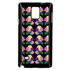 Rosa Yellow Roses Pattern On Black Samsung Galaxy Note 4 Case (black) by Costasonlineshop