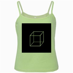 Simple Cube Green Spaghetti Tank by Valentinaart