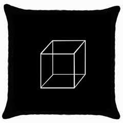 Simple Cube Throw Pillow Case (black)