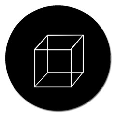 Simple Cube Magnet 5  (round) by Valentinaart