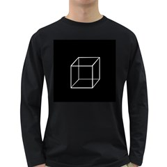 Simple Cube Long Sleeve Dark T Shirts