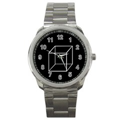 Simple Cube Sport Metal Watch