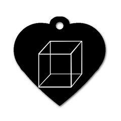 Simple Cube Dog Tag Heart (two Sides) by Valentinaart