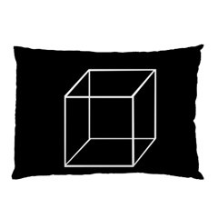 Simple Cube Pillow Case by Valentinaart