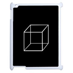 Simple Cube Apple Ipad 2 Case (white) by Valentinaart