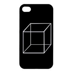 Simple Cube Apple Iphone 4/4s Premium Hardshell Case by Valentinaart