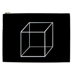 Simple Cube Cosmetic Bag (xxl)  by Valentinaart