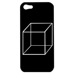 Simple Cube Apple Iphone 5 Hardshell Case by Valentinaart