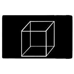 Simple Cube Apple Ipad 2 Flip Case by Valentinaart