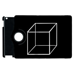 Simple Cube Apple Ipad 3/4 Flip 360 Case by Valentinaart