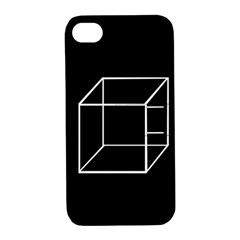 Simple Cube Apple Iphone 4/4s Hardshell Case With Stand by Valentinaart