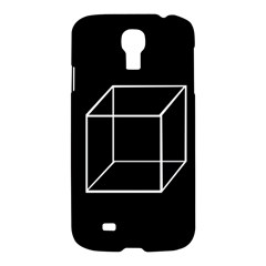 Simple Cube Samsung Galaxy S4 I9500/i9505 Hardshell Case by Valentinaart