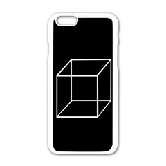 Simple Cube Apple Iphone 6/6s White Enamel Case by Valentinaart