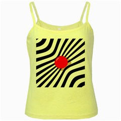 Abstract Red Ball Yellow Spaghetti Tank
