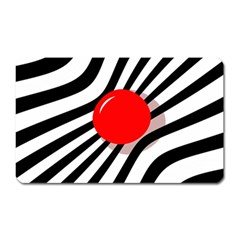 Abstract Red Ball Magnet (rectangular) by Valentinaart