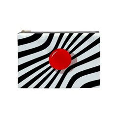Abstract Red Ball Cosmetic Bag (medium)  by Valentinaart