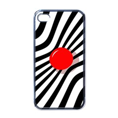 Abstract Red Ball Apple Iphone 4 Case (black) by Valentinaart